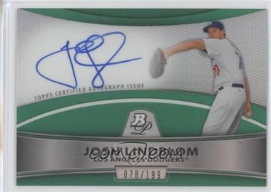 2010 Bowman Platinum Chrome Autograph Green Refractor #BPA-JL - Josh Lindblom /199