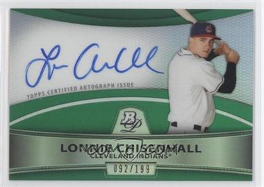 2010 Bowman Platinum Chrome Autograph Green Refractor #BPA-LC - Lonnie Chisenhall /199