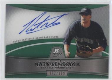 2010 Bowman Platinum Chrome Autograph Green Refractor #BPA-NT - Nate Tenbrink /199