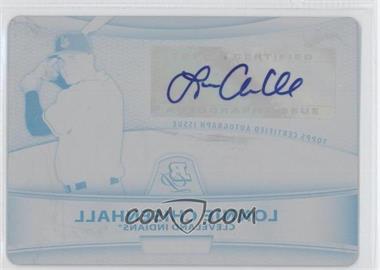 2010 Bowman Platinum Chrome Autograph Printing Plate Black #BPA-LC - Lonnie Chisenhall /1