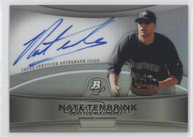 2010 Bowman Platinum Chrome Autograph Refractor #BPA-NT - Nate Tenbrink