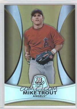 2010 Bowman Platinum Chrome Prospects Gold Refractor #PP5 - Mike Trout /539