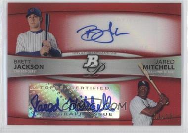 2010 Bowman Platinum Dual Autographs Red Refractor #BPDA-JM - Brett Jackson, Jared Mitchell /10