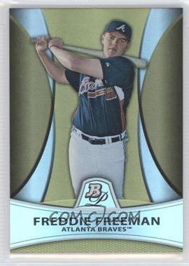 2010 Bowman Platinum Prospects Chrome Gold Refractor #PP13 - Freddie Freeman /539