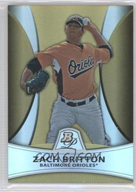 2010 Bowman Platinum Prospects Chrome Gold Refractor #PP7 - Zach Britton /539