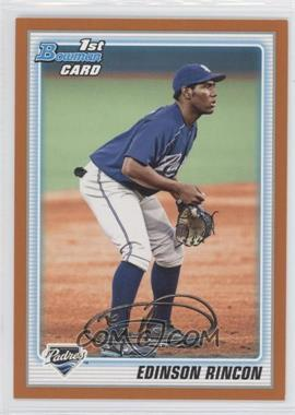 2010 Bowman Prospects Orange #BP39 - Edinson Rincon /250