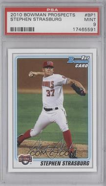 2010 Bowman Prospects #BP1 - Stephen Strasburg [PSA 9]