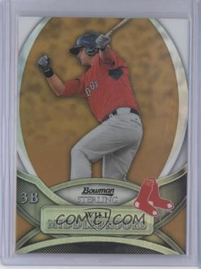 2010 Bowman Sterling - Prospects - Gold Refractor #BSP-WM1 - Will Middlebrooks /50