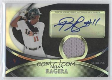 2010 Bowman Sterling - USA Baseball Autograph Relics - Black Refractor [Autographed] #USAR-14 - Brian Ragira /25