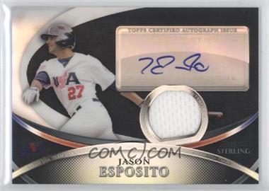 2010 Bowman Sterling - USA Baseball Autograph Relics - Black Refractor [Autographed] #USAR-26 - Jason Esposito /25