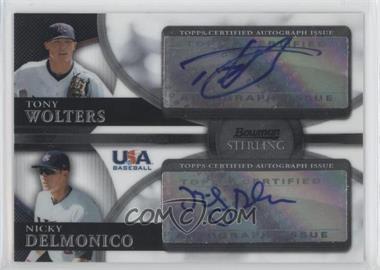 2010 Bowman Sterling - USA Baseball Dual Autographs - [Autographed] #BSDA-1 - Tony Wolters, Nicky Delmonico