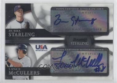 2010 Bowman Sterling - USA Baseball Dual Autographs - [Autographed] #BSDA-4 - Bubba Starling, Lance McCullers Jr.