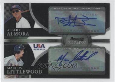 2010 Bowman Sterling - USA Baseball Dual Autographs - Black Refractor [Autographed] #USDA-8 - Albert Almora, Marcus Littlewood /25