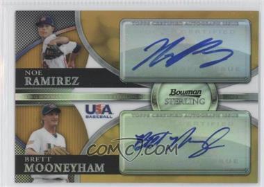 2010 Bowman Sterling - USA Baseball Dual Autographs - Gold Refractor [Autographed] #BSDA-20 - Noe Ramirez, Brett Mooneyham /50