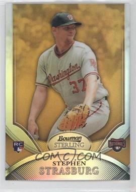2010 Bowman Sterling Gold Refractor #1 - Stephen Strasburg /50