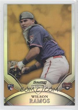 2010 Bowman Sterling Gold Refractor #28 - Wilson Ramos /50