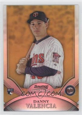 2010 Bowman Sterling Gold Refractor #34 - Danny Valencia /50