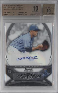 2010 Bowman Sterling MLB Future Stars Autographs [Autographed] #BSP-CCO - Christian Colon [BGS 10]