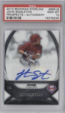 2010 Bowman Sterling MLB Future Stars Autographs [Autographed] #BSP-JS - Jonathan Singleton [PSA10]