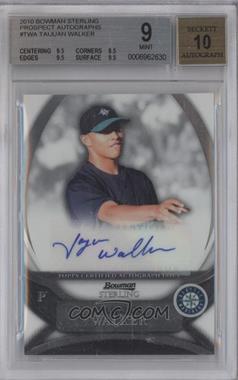 2010 Bowman Sterling MLB Future Stars Autographs [Autographed] #BSP-TWA - Taijuan Walker [BGS9]