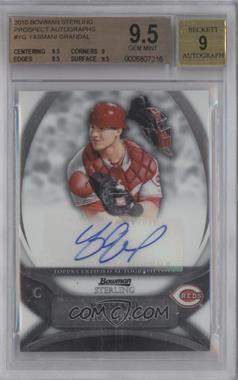 2010 Bowman Sterling MLB Future Stars Autographs [Autographed] #BSP-YG - Yasmani Grandal [BGS 9.5]