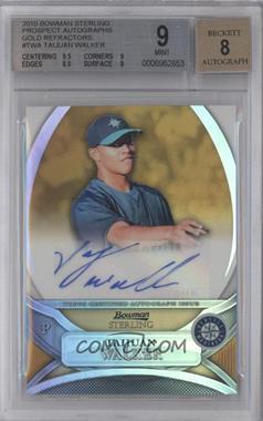 2010 Bowman Sterling MLB Future Stars Gold Refractor Autograph [Autographed] #BSP-TWA - Taijuan Walker /50 [BGS9]
