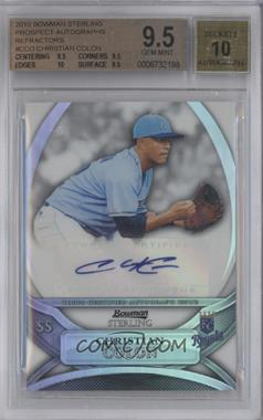 2010 Bowman Sterling MLB Future Stars Refractor Autograph [Autographed] #BSP-CCO - Christian Colon /199 [BGS9.5]