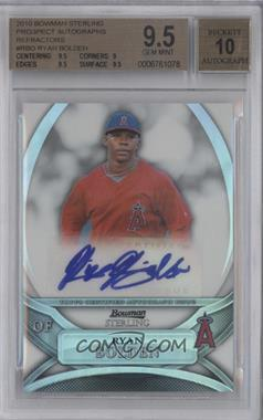 2010 Bowman Sterling MLB Future Stars Refractor Autograph [Autographed] #BSP-RBO - Ryan Bolden /199 [BGS 9.5]