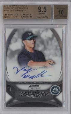 2010 Bowman Sterling Prospects Autographs [Autographed] #BSP-TWA - Taijuan Walker [BGS 9.5]