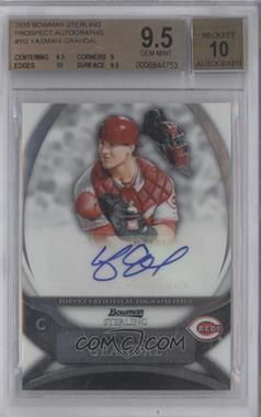 2010 Bowman Sterling Prospects Autographs [Autographed] #BSP-YG - Yasmani Grandal [BGS9.5]