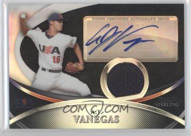 2010 Bowman Sterling USA Baseball Autograph Relics Black Refractor [Autographed] #USAR-19 - A.J. Vanegas /25