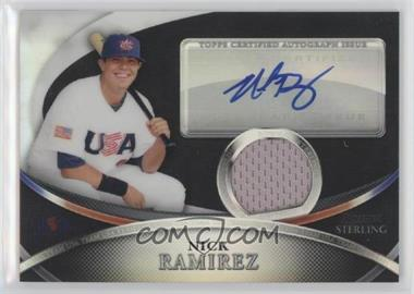 2010 Bowman Sterling USA Baseball Autograph Relics Black Refractor [Autographed] #USAR-37 - Nick Ramirez /25