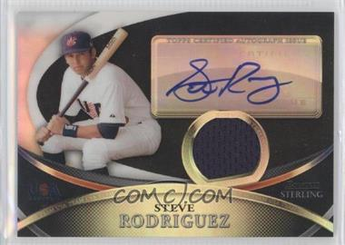 2010 Bowman Sterling USA Baseball Autograph Relics Black Refractor [Autographed] #USAR-39 - Steven Rodriguez /25