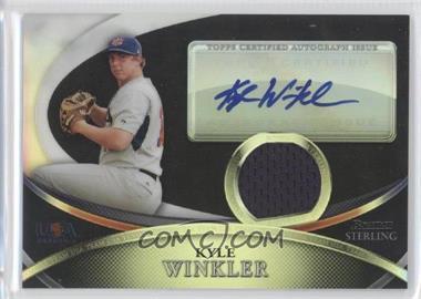 2010 Bowman Sterling USA Baseball Autograph Relics Black Refractor [Autographed] #USAR-41 - Kyle Winkler /25