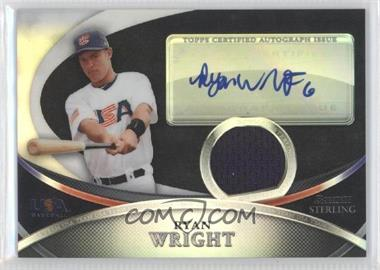 2010 Bowman Sterling USA Baseball Autograph Relics Black Refractor [Autographed] #USAR-42 - Ryan Wright /25