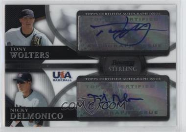 2010 Bowman Sterling USA Baseball Dual Autographs [Autographed] #BSDA-1 - Tony Wolters, Nicky Delmonico