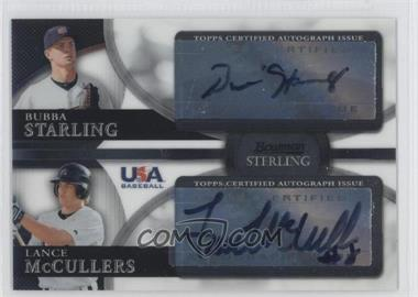 2010 Bowman Sterling USA Baseball Dual Autographs [Autographed] #BSDA-4 - Bubba Starling, Lance McCullers, Lance McCullers Jr., Lance McClain