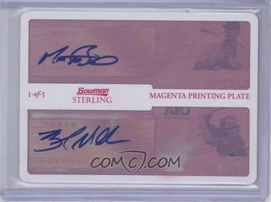 2010 Bowman Sterling USA Baseball Dual Autographs Printing Plate Magenta [Autographed] #BSDA-11 - Brad Mills, Matt Barnes, Brad Miller /1