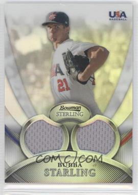 2010 Bowman Sterling USA Baseball Relics Dual Refractors #USAR-17 - Bubba Starling /199