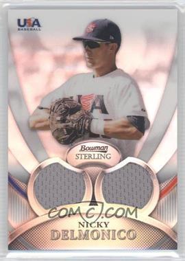 2010 Bowman Sterling USA Baseball Relics Dual Refractors #USAR-3 - Nick Delmonico /199