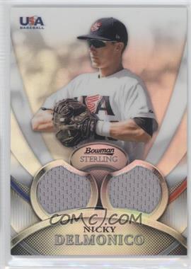 2010 Bowman Sterling USA Baseball Relics Dual Refractors #USAR-3 - Nicky Delmonico /199