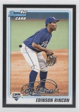 2010 Bowman Wrapper Redemption Prospects Black #BP39 - Edinson Rincon