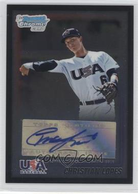 2010 Bowman Wrapper Redemption USA Certified Autographs Black [Autographed] #WR11 - Christian Lopes /25