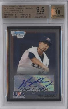 2010 Bowman Wrapper Redemption USA Certified Autographs Black [Autographed] #WR35 - Noe Ramirez /25 [BGS 9.5]