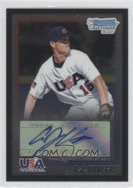2010 Bowman Wrapper Redemption USA Certified Autographs Black [Autographed] #WR6 - A.J. Vanegas /25