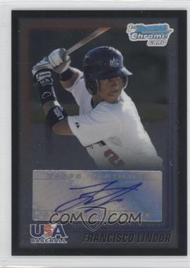 2010 Bowman Wrapper Redemption USA Certified Autographs Black #WR15 - Francisco Lindor /25