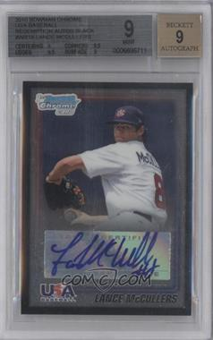 2010 Bowman Wrapper Redemption USA Certified Autographs Black #WR18 - Lance McCullers /25 [BGS 9]