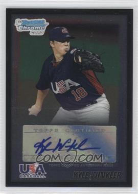 2010 Bowman Wrapper Redemption USA Certified Autographs Black #WR31 - Kyle Winkler /25