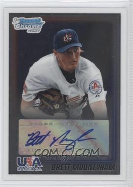 2010 Bowman Wrapper Redemption USA Certified Autographs #WR25 - Brett Mooneyham /99