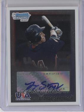 2010 Bowman Wrapper Redemption USA Certified Autographs #WR27 - George Springer /99